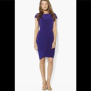 Ralph Lauren Cobalt Blue Jersey Knot Dress 6